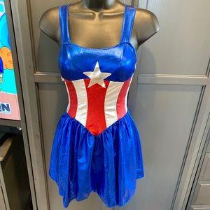 🦋 Captain America Marvel Costume Dress!